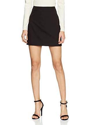 Классическая черная мини юбка new look
