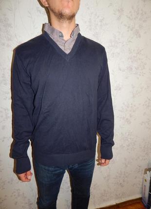 Next свитер мужской с рубашкой-обманкой стильный модный рl идёт на рxl