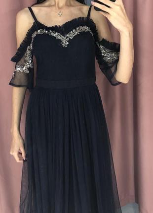 Шикарное вечернее выпускное коктейльные роскошное платье премиум коллекции missguided asos