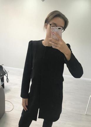 Чёрное пальто от zara