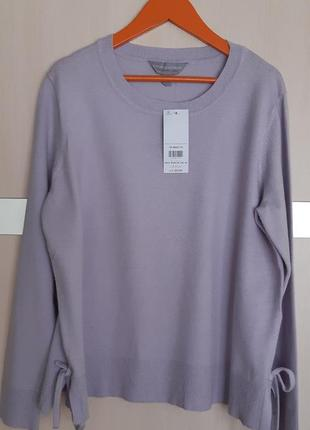 Лавандовый свитер со шнуровкой dorothy perkins