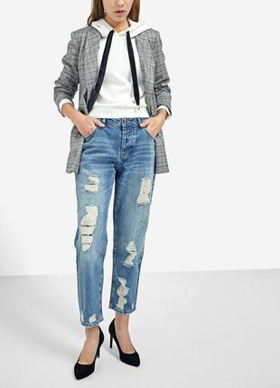 Рваные джинсы бойфренды  от stradivarius 🖤