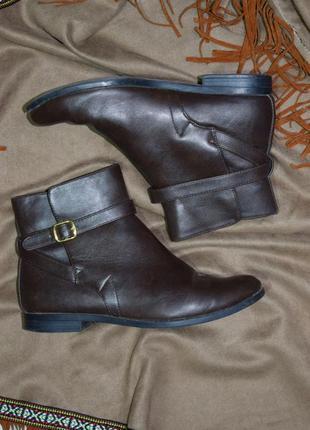 Супер удобные лёгкие коричневые ботинки низкий ход