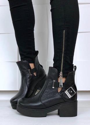 35-41 рр деми/ зима ботинки демисезонные натуральная кожа/замш цвета в ассортименте
