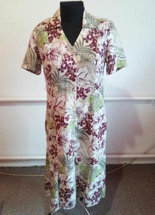 Красивый винтажный платье халат 12 раз.