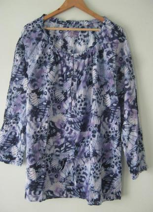 Блуза- туника/100% хлопок/размер 3xl