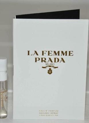 Пробник prada la femme prada объем 1,5мл оригинал
