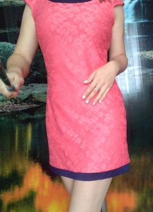 Платье гипюровое, с подкладкой