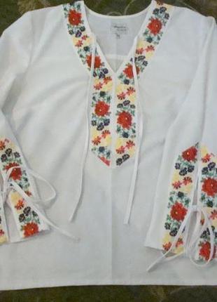 Итальянская блуза-вышиванка