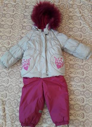 Зимний комплект для девочки (куртка+полукомбинезон) lenne fiona