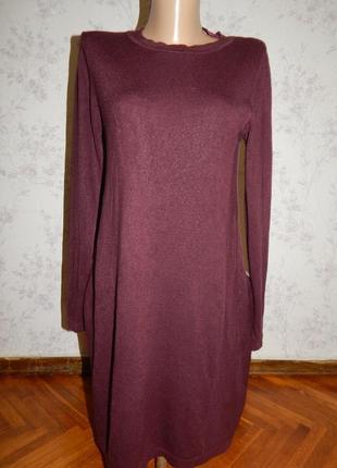 Primark платье трикотажное с длинным рукавом стильное модное р12