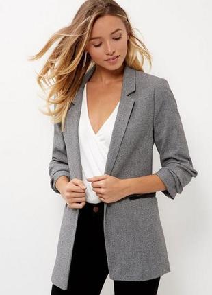 Базовый удлиненный пиджак от zara
