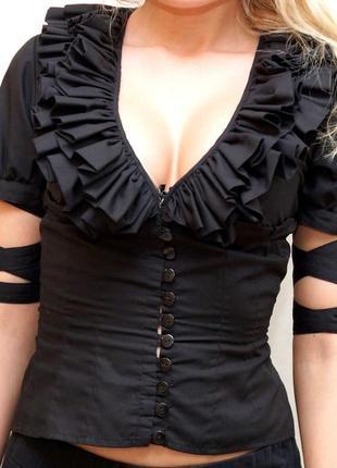 Шикарная блузка с объемным кружевом