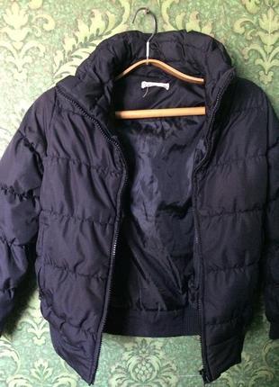 Короткий натуральный пуховик куртка