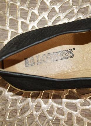 (36/23,5см) ab donkers! кожа/нубук! стильные фирменные мокасины, слипоны4 фото