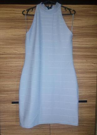 Очень нежное бандажное платье небесно голубого цвета