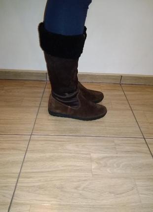 Фирменные зимние кожаные сапожки 38 р sioux