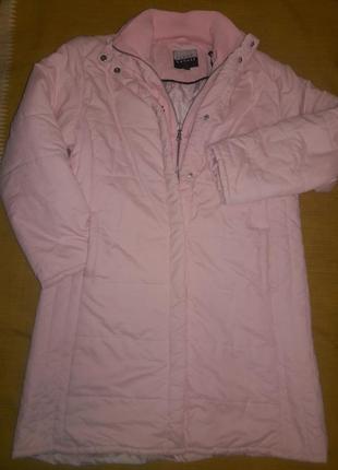 Пальто розовая пудра steve ketell разм.42