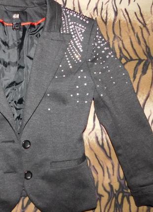 Пиджак h&m в стразах  размер xc обмен