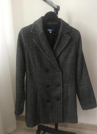 Серое пальто blue motion размер s