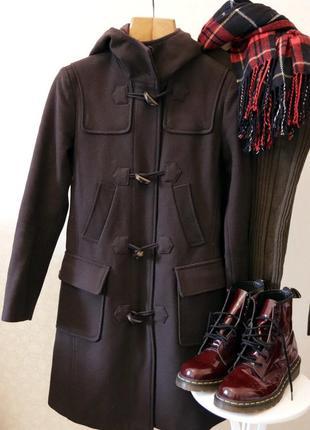 Шерстяное пальто, дафлкот benetton
