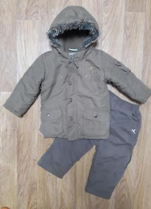 Теплая куртка topolino,штаны. костюм
