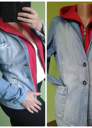 Джинсовый пиджак куртка жакет 10,12 размер