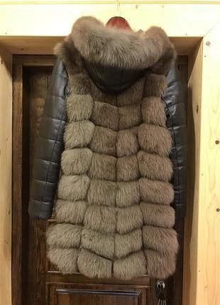 Зимняя куртка -жилетка с песца