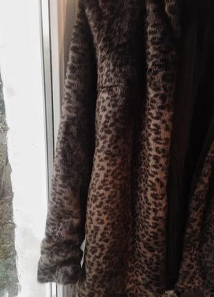 Искусственная шуба•леопардовый принт
