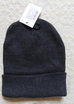 Новая шапка стойка бини с отворотом, размер универсальный.