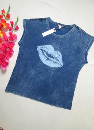 Фирменная стрейчевая футболка варенка под джинс 100% коттон esprit