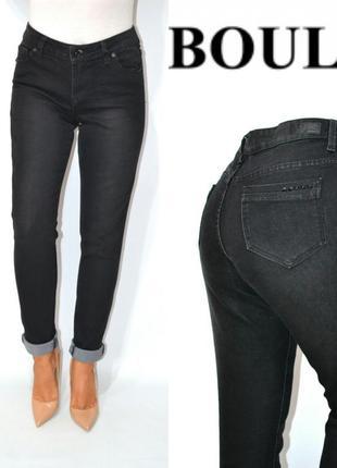 Джинсы момы высокая посадка мом mom jeans черные boulevard fashion.