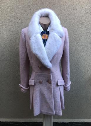 Пальто демисезонное 44% шерсти