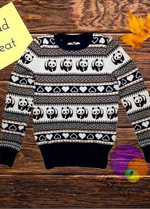Жіночий светр з пандами [ женский свитер с пандами ]