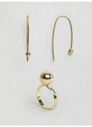 Серьги и кольцо экслюзив от asos