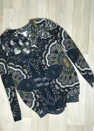 Sale! черная пятница! все от 50 грн до 24.11! блузка в узоры с длинным рукавом h&m