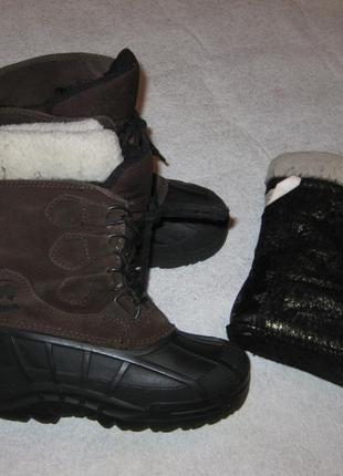 20,5 см стелька, канадские сноубутсы с валенком kamik, зимние сапоги