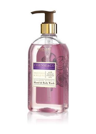 Гель для душа/жидкое мыло для рук и тела с магнолией и инжиром essense & co.