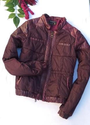Крутая куртка с кожаными вставками от freesoul