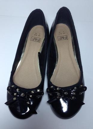 Лаковые туфли балетки f&f 38р стелька 24 см