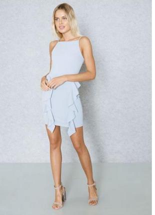 Платье-футляр с рюшами
