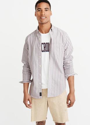 Рубашка оксфорд abercrombie&fitch