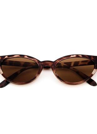 Очки винтаж тигровые,солнцезащитные очки кошачий глаз , окуляри лисички