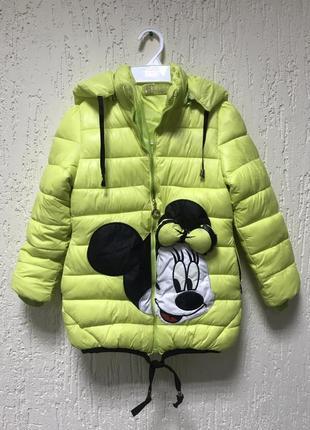 Курточка салатовая микки