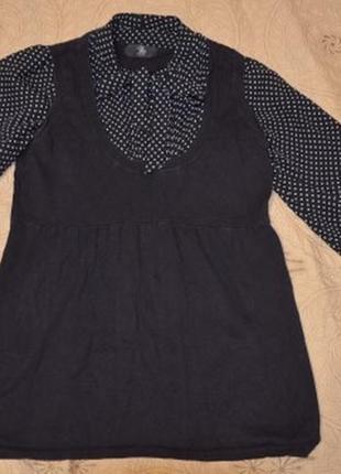 Блуза-обманка с жилеткой mothercare для беременных