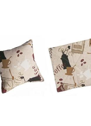 Комплект подушка и сидушка коттон 35х35 см дача,кухня, балкон,столовая,студия