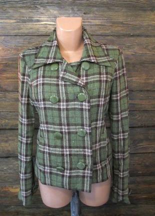 Пальто bershka, l, wool collection, зеленое, как новое!