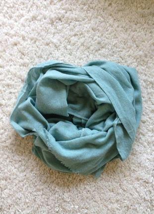 Теплый шарф цвета тиффани