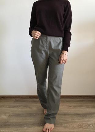 Классические серые брюки на высокой посадке steilmann