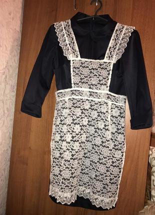 Школьная форма  ссср платье и фартук